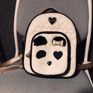 Betsey Johnson panda mini backpack